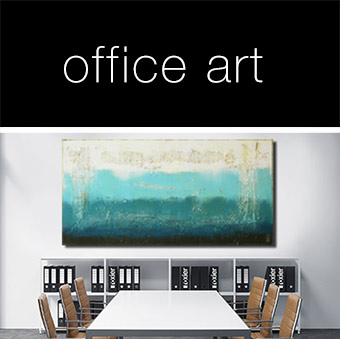 office art blue painting abstract